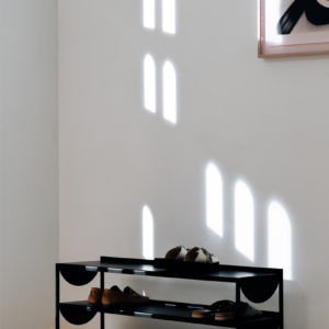 Mouse shoe rack, 2 tiers in black